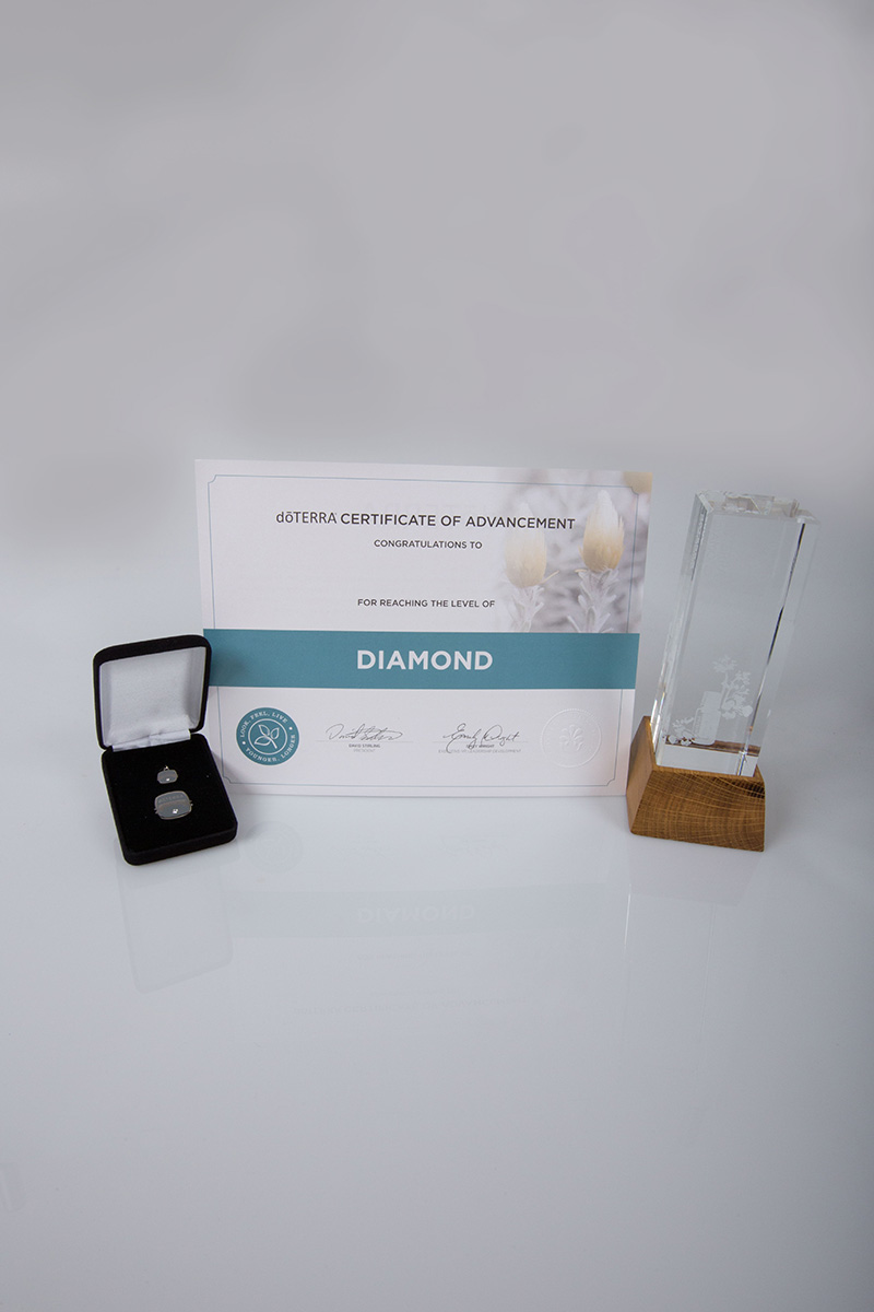image of the doterra diamond certificate