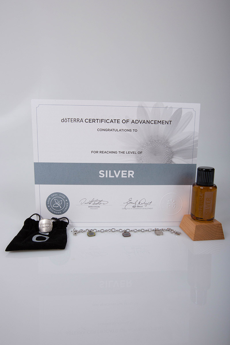 image of the doterra silver certificate